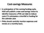 cost savings measures