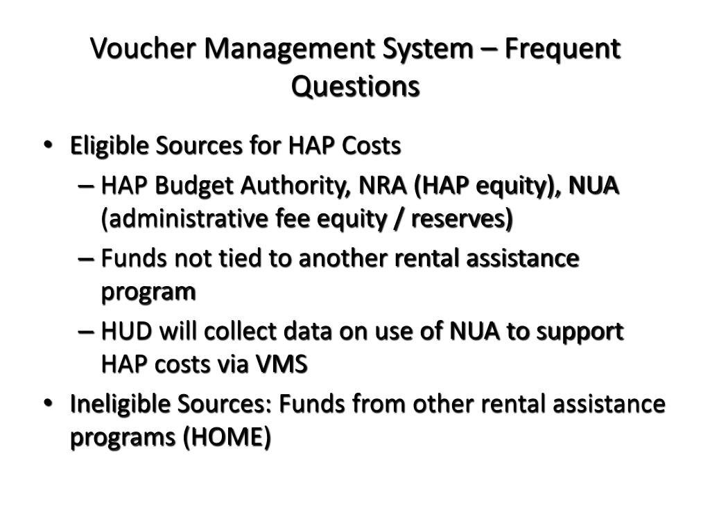 Voucher Management System – Frequent Questions