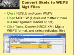 convert skels to weps mgt files