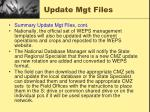 update mgt files5