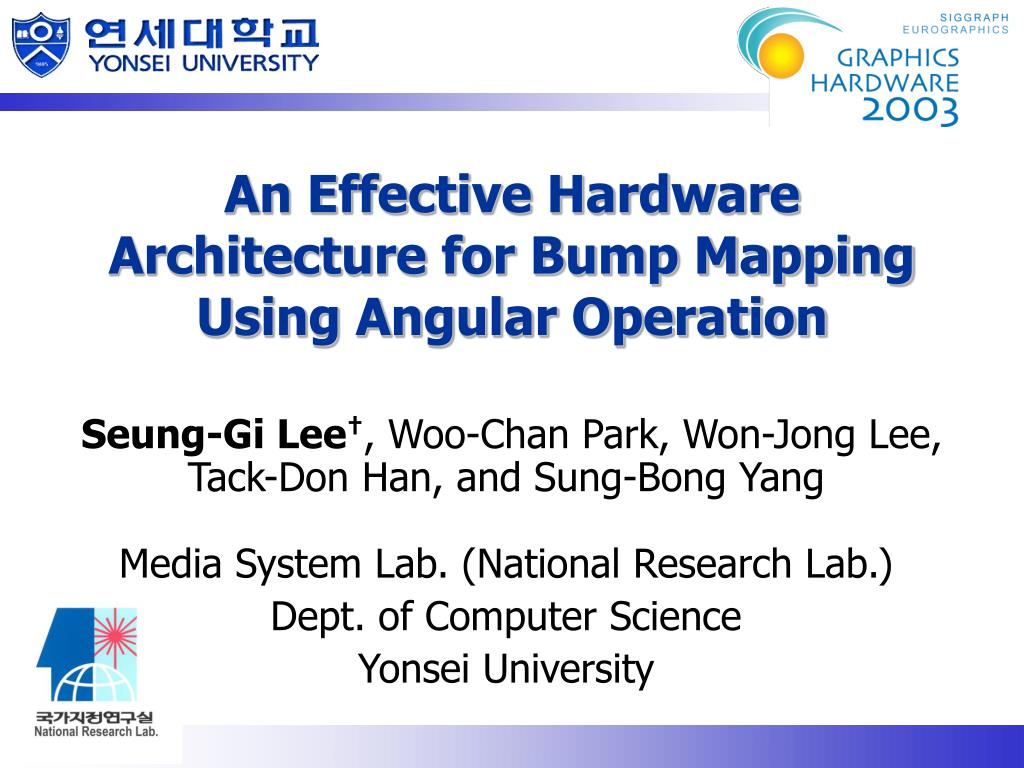 An Effective Hardware Architecture for Bump Mapping Using Angular Operation