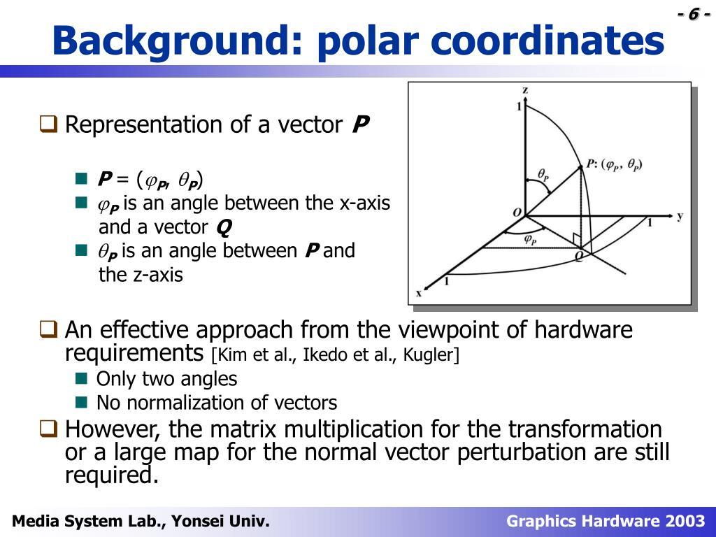 Background: polar coordinates