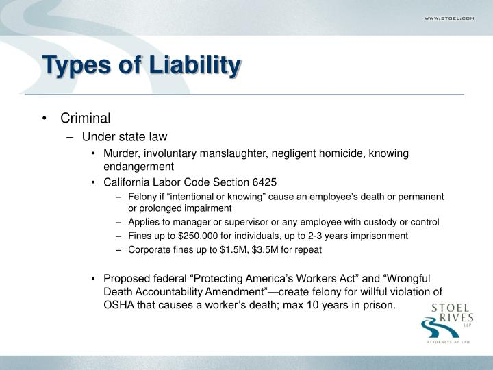 Types of liability3