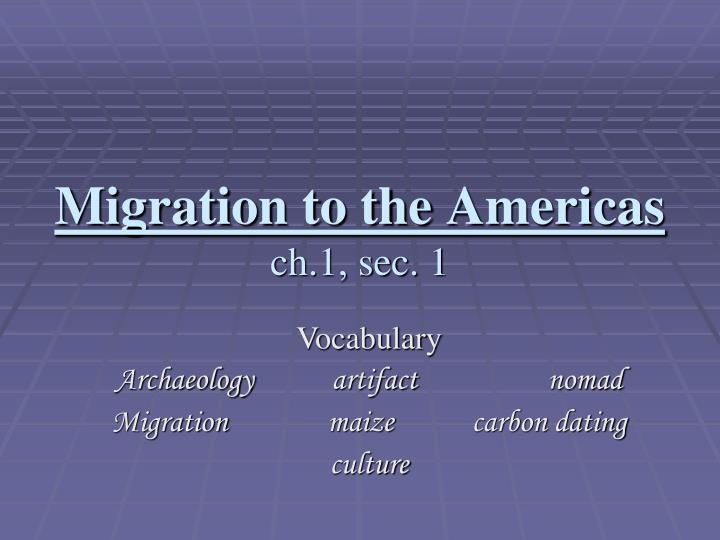 migration to the americas ch 1 sec 1 n.
