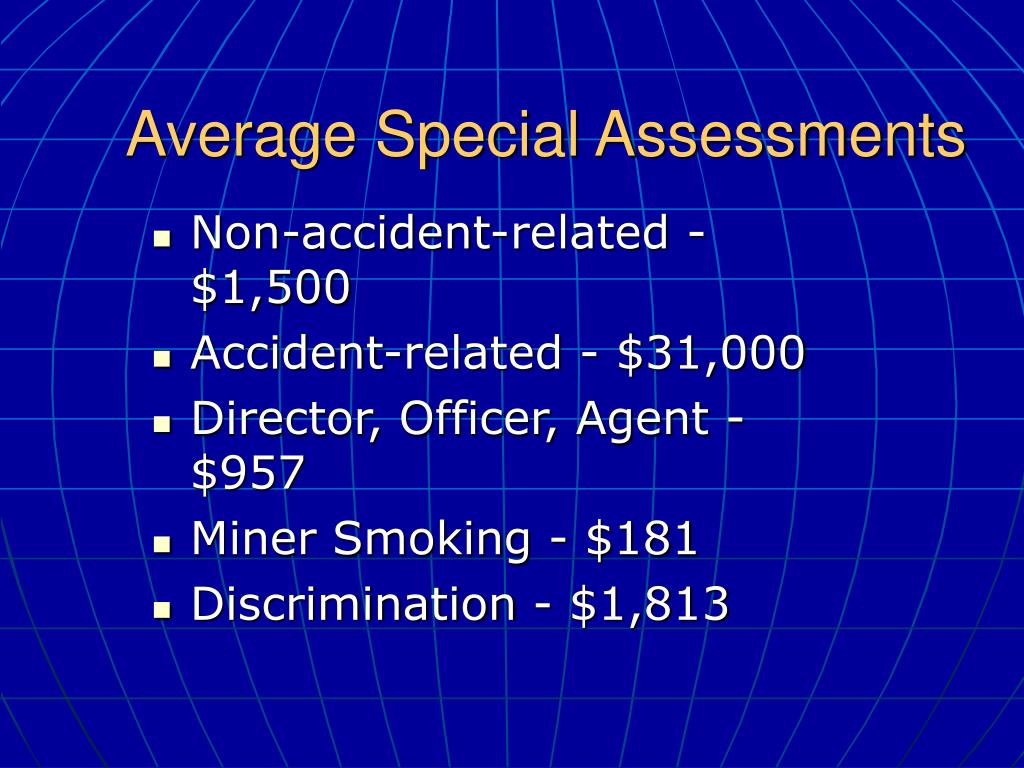 Average Special Assessments
