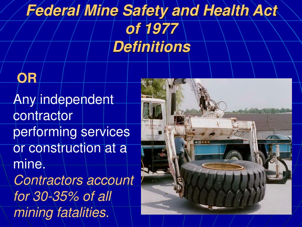 Federal Mine Safety and Health Act of 1977