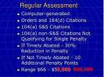 regular assessment