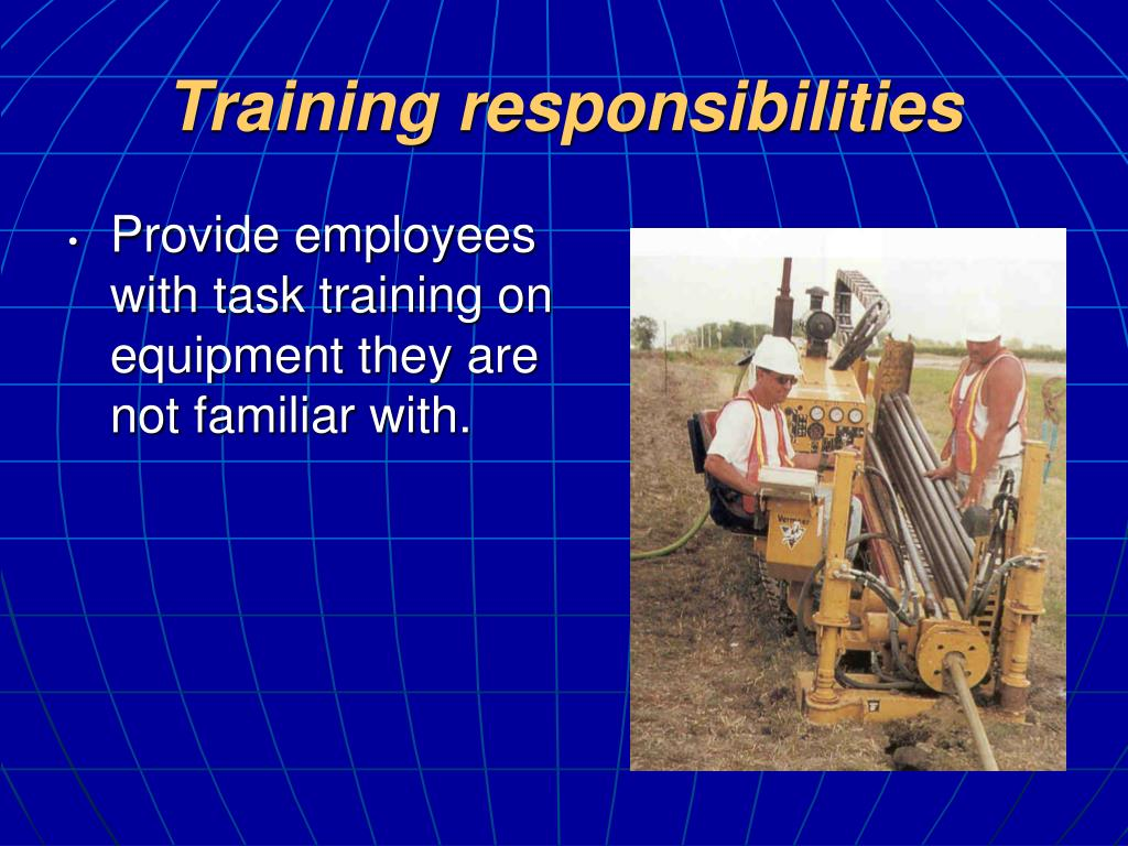 Training responsibilities