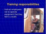 training responsibilities20
