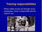 training responsibilities21