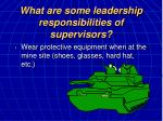what are some leadership responsibilities of supervisors15