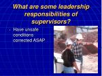 what are some leadership responsibilities of supervisors17