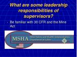 what are some leadership responsibilities of supervisors18