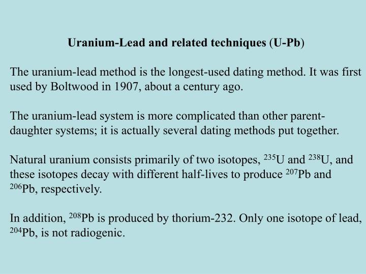 uranium lead method
