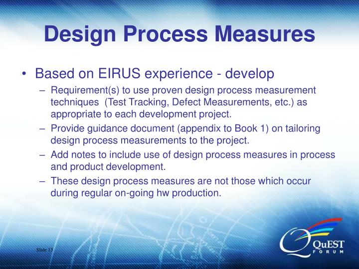 Design Process Measures