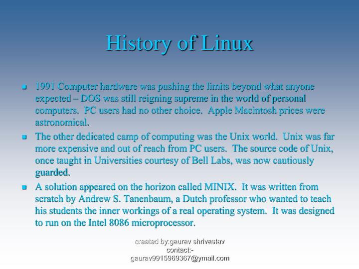 PPT - History of Linux PowerPoint Presentation - ID:1444619