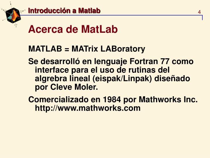 Acerca de MatLab