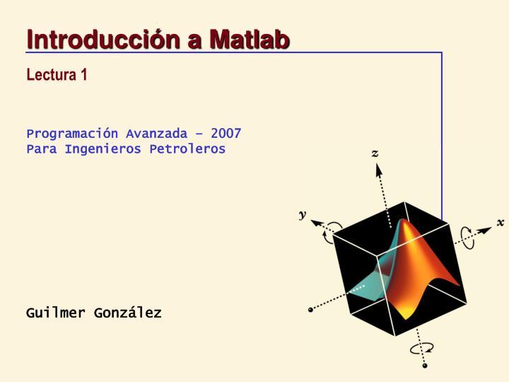 Introducci n a matlab1