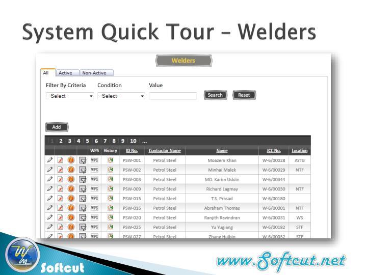 System Quick Tour –