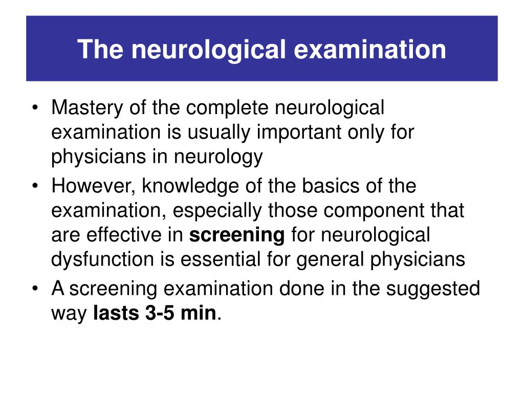 How to perform a neurological exam on a tbi patient