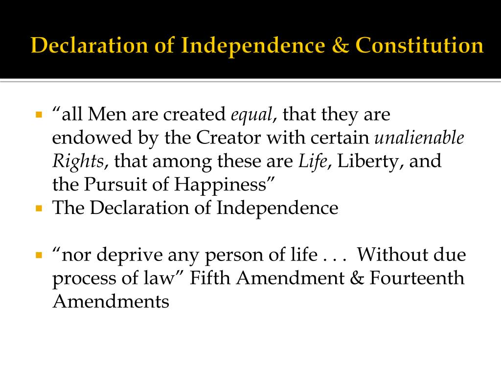 Declaration of Independence & Constitution