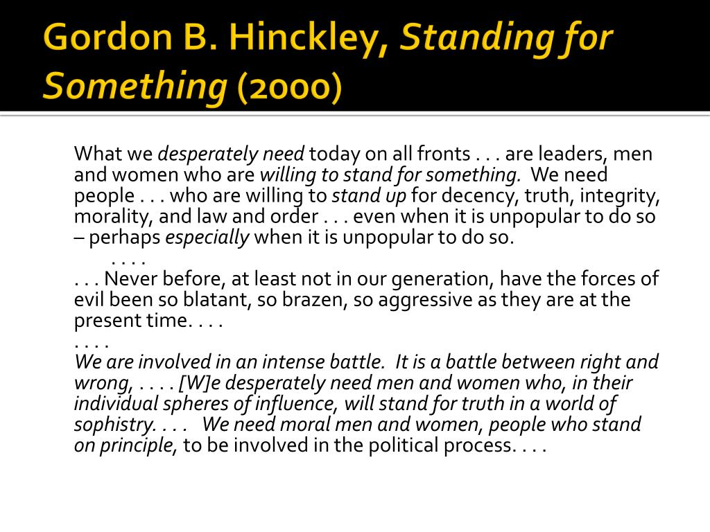 Gordon B. Hinckley,