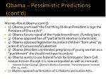 obama pessimistic predictions cont d