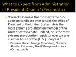 what to expect from administration of president obama pessimistic