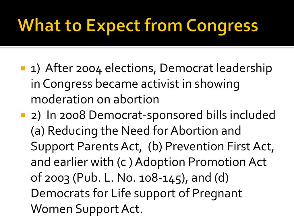 What to Expect from Congress