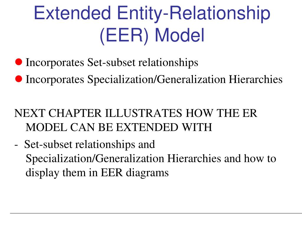 Ppt Data Modeling Using The Entity Relationship Er Model