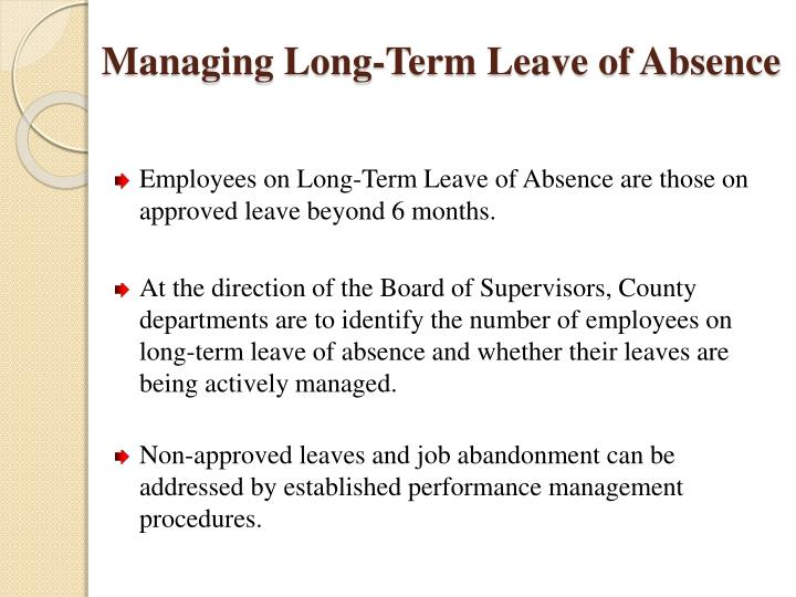 Managing long term leave of absence1