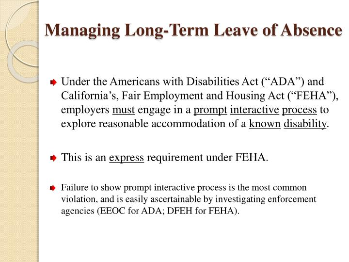 Managing long term leave of absence2