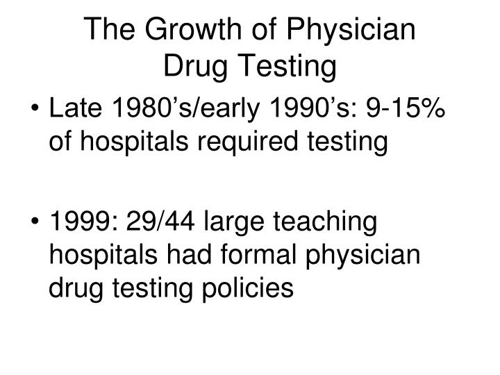 The Growth of Physician