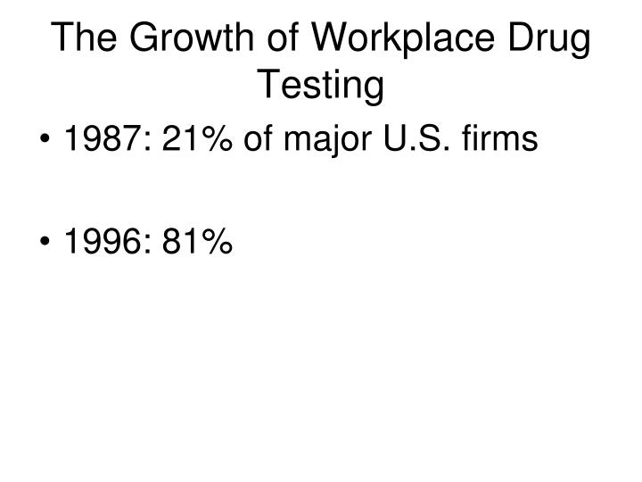 The Growth of Workplace Drug Testing