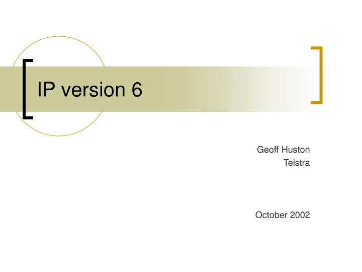 ip version 6 n.