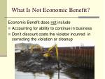 what is not economic benefit