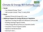 climate energy bill outlook