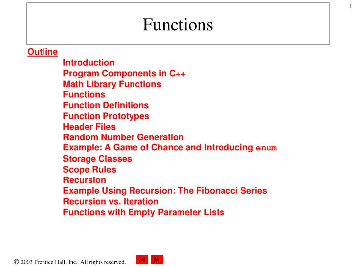 Ppt Functions Powerpoint Presentation Free Download Id 1444811