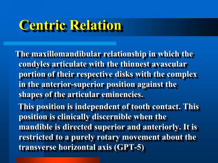 Centric Relation