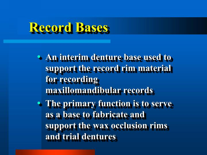 Record bases