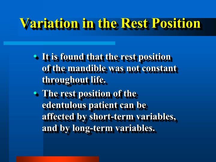 Variation in the
