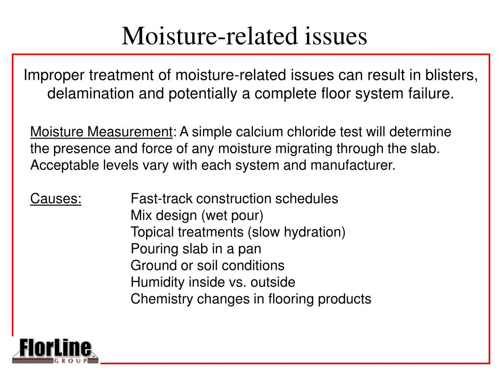 Moisture-related issues