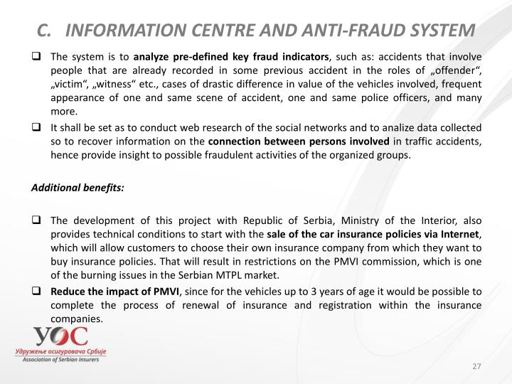 INFORMATION CENTRE AND ANTI-FRAUD SYSTEM