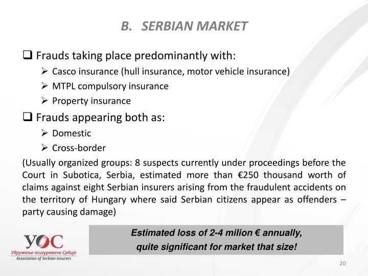 SERBIAN MARKET