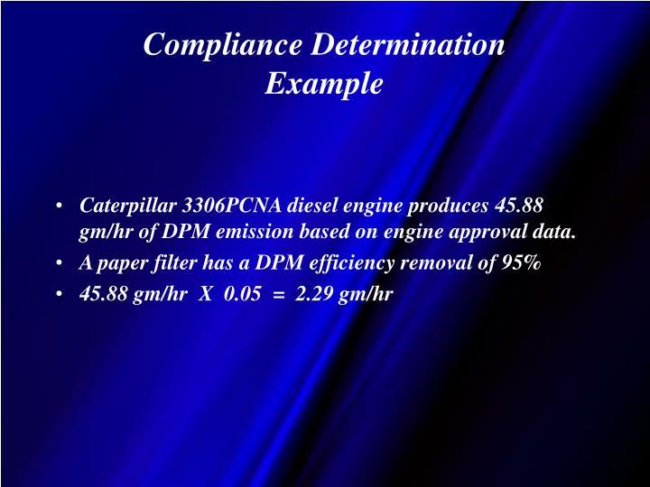 Compliance Determination