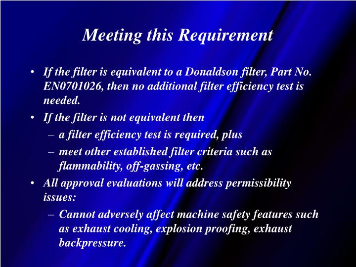 Meeting this Requirement