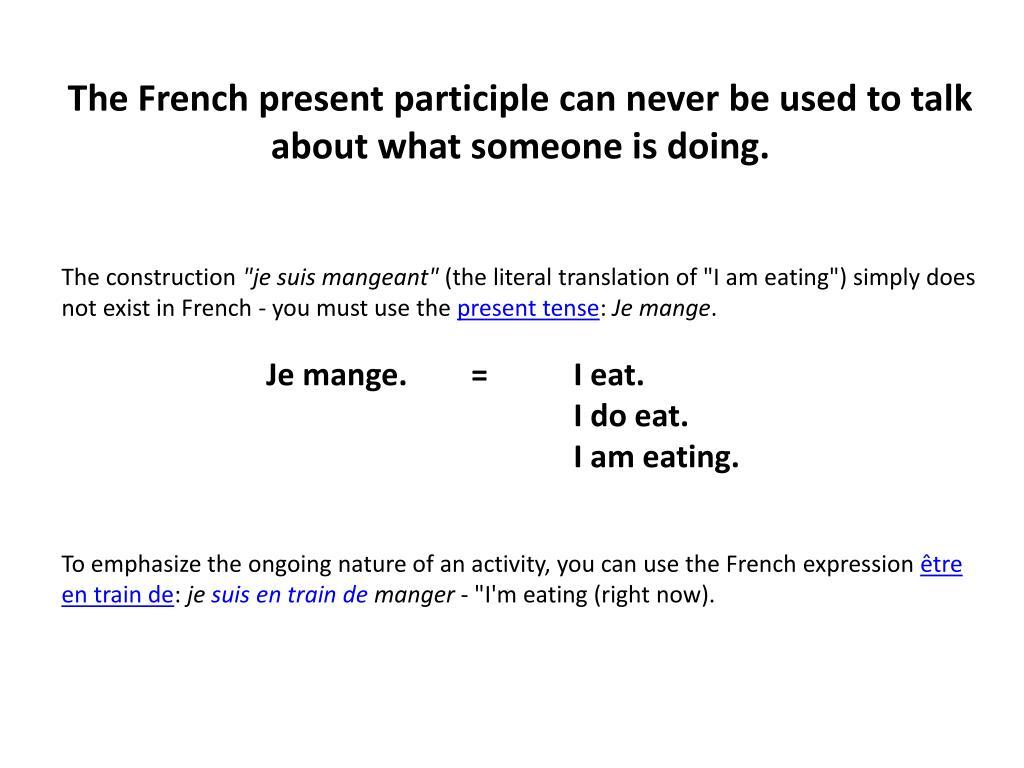 PPT - Le gérondif PowerPoint Presentation, free download - ID:1444979