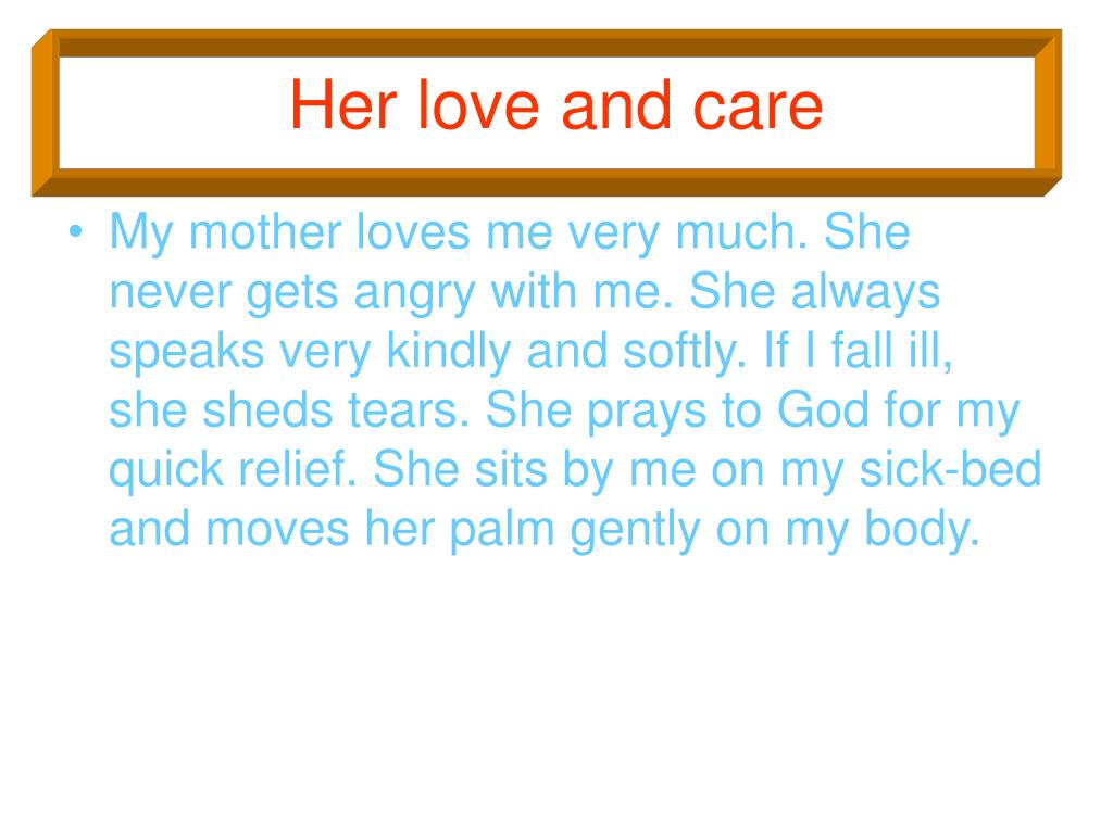 PPT - MY MOTHER PowerPoint Presentation - ID:1444999