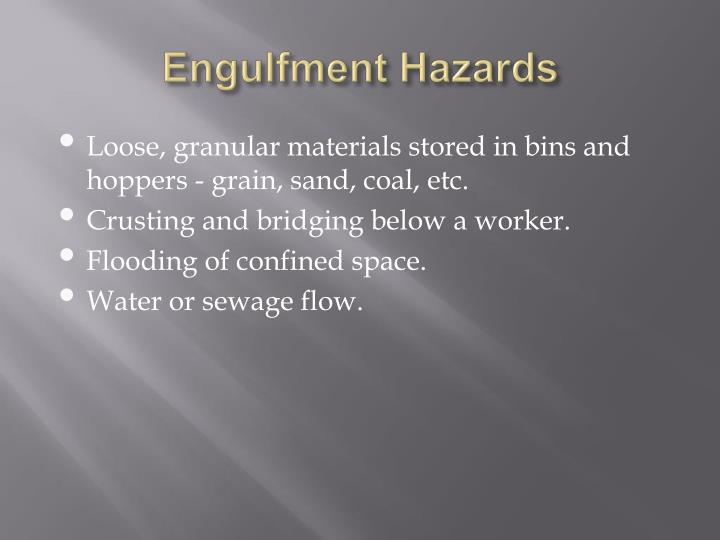 Engulfment Hazards