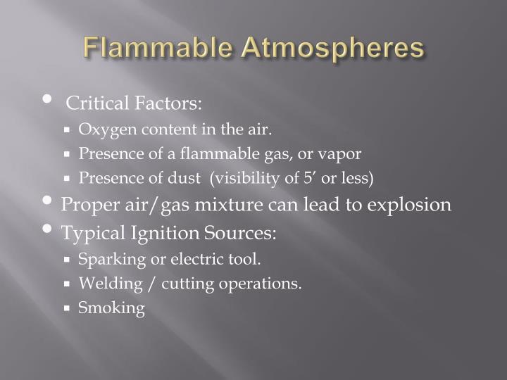 Flammable Atmospheres